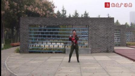 飞舞广场舞《水蓝蓝》原创舞蹈 正背面口令分解动作教学演示