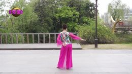 紫紫雨广场舞《旗袍赋》编舞応子 附正背面分解教学演示