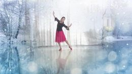 丽雨广场舞《在水一方》编舞艺子龙 正背面演示