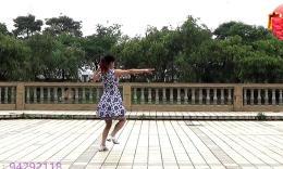 鄂州益馨广场舞《草原风吹过》原创舞蹈 背面教学演示