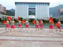 俏木兰广场舞《自由飞翔》原创舞蹈 团队演示