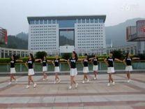 俏木兰广场舞《我想》原创舞蹈 团队正背面演示