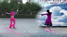 阿梅广场舞《若有缘再相见》原创舞蹈 异地合屏