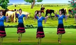 全椒管坝凤妹广场舞《美丽的草原美丽的姑娘》编舞惠汝 正背面演示
