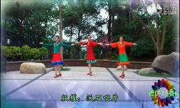 广西灵山曹曹广场舞《我是一条小河》编舞王梅 团队演示