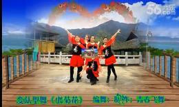 漓江飞舞广场舞《小菊花》原创舞蹈 团队演示 附正背面分解教学演示