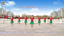 云裳馨悦广场舞《火与蝶》原创舞蹈 团队演示 附正背面口令分解教学