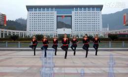 俏木兰广场舞《鸭梨大》编舞俞祝琴 团队正背面演示