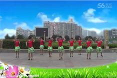 吉美广场舞《谷韵梦苗家情》原创舞蹈 团队正背面演示